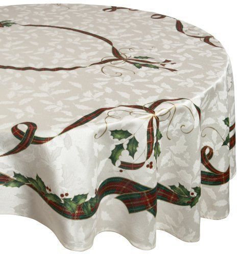 new lenox holiday nouveau 70 inch round tablecloth lenox