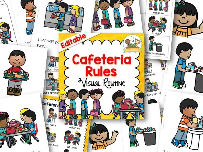 Cafeteria Visual Routine Classroom Management Preschool Pre K
