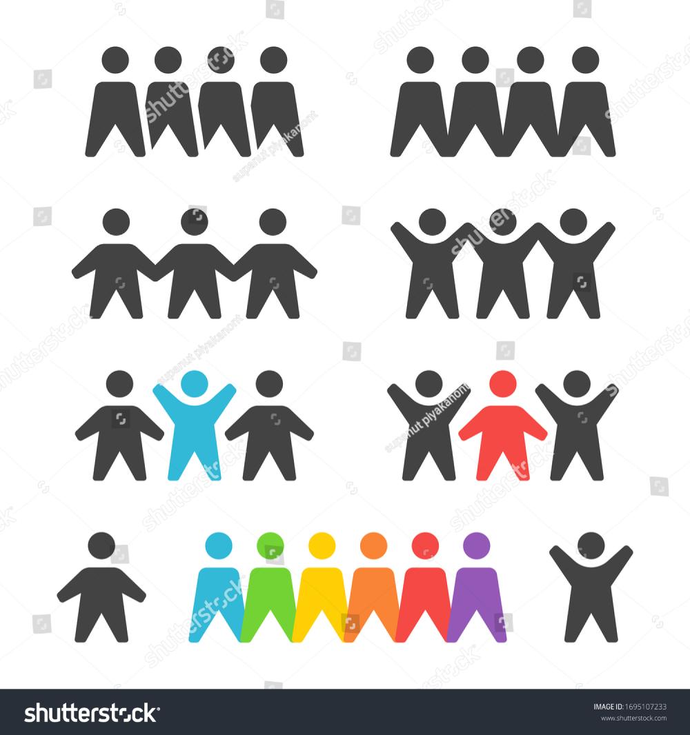Group Team Icon Setvector Illustration Stock Vector Royalty Free 1695107233 In 2020 Illustration Icon Royalty Free