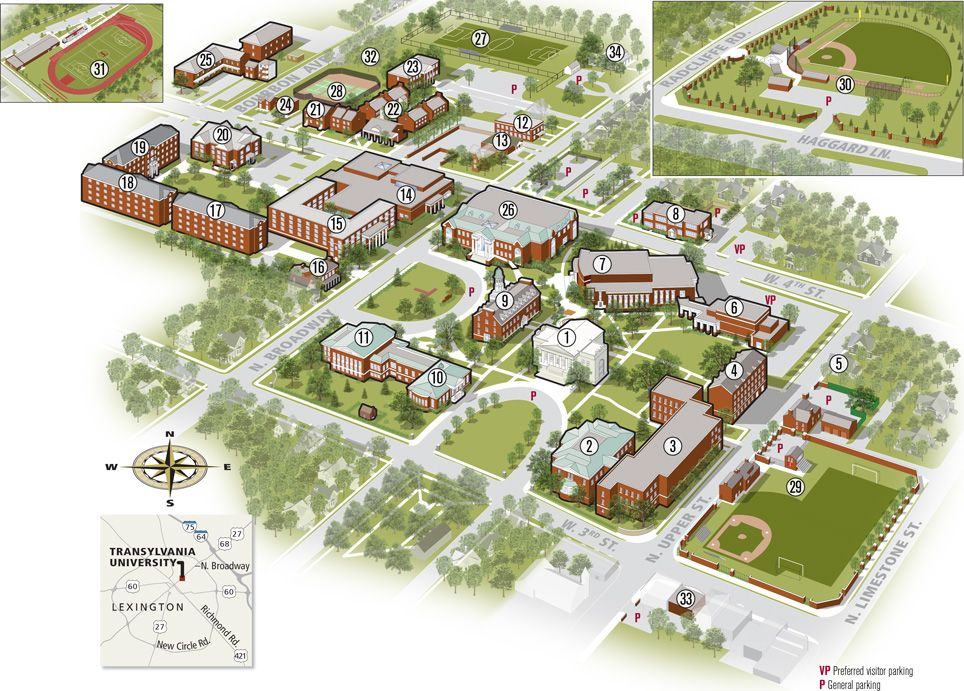 Youngstown State University Campus Map.Campus Map Transylvania University College And Career Readiness