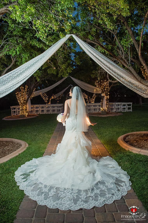 Las Vegas Garden Wedding photography at The Grove, bride