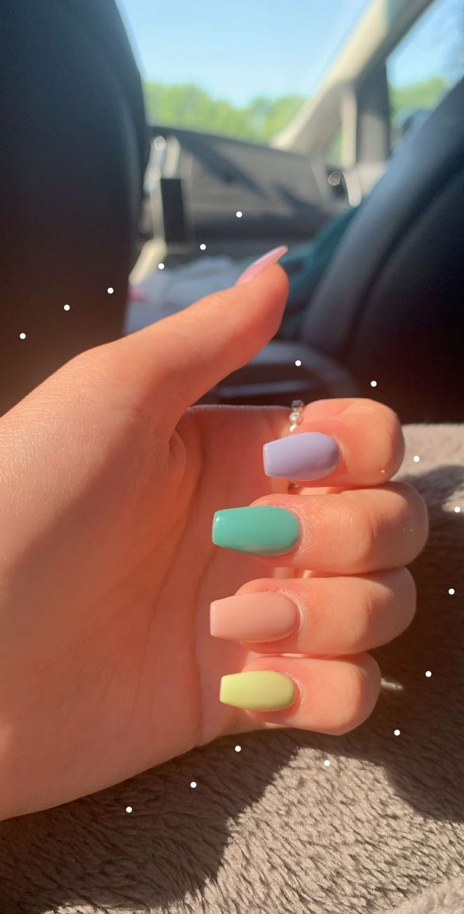 55 Beatiful Primary Color Acrylic Nails Short 26 With Images Best Acrylic Nails Dream Nails Solid Color Nails