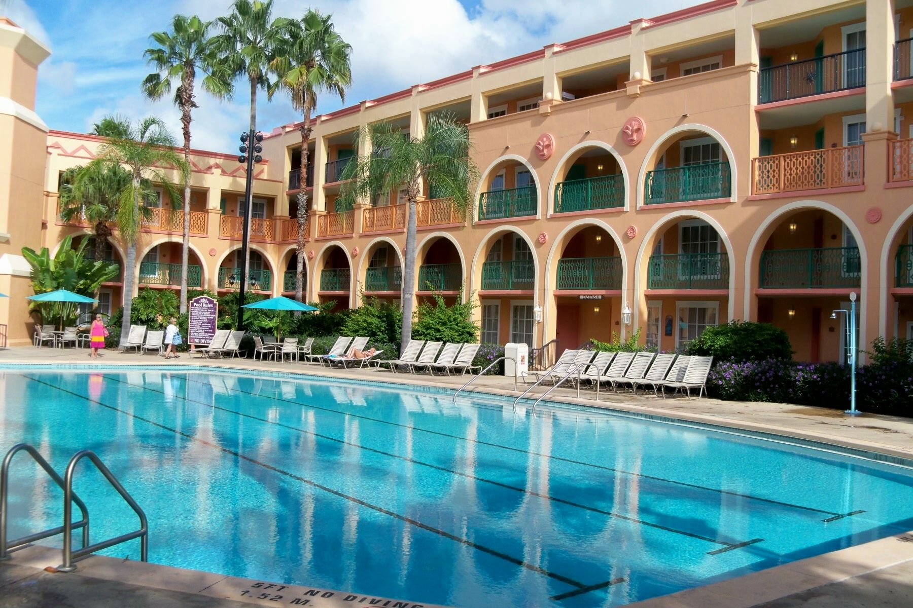 Coronado Springs Resort Casitas Quiet Pool Walt Disney
