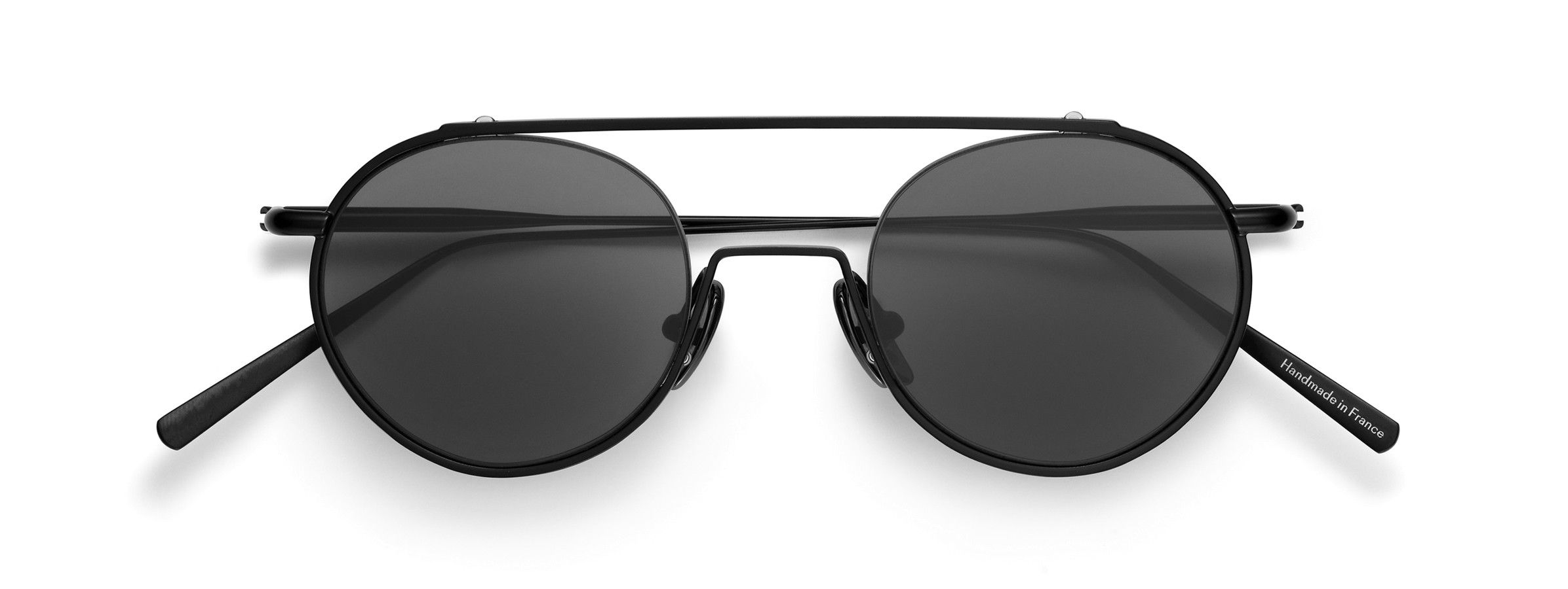 Acne Studios Winston black satin Round metal frame sunglasses