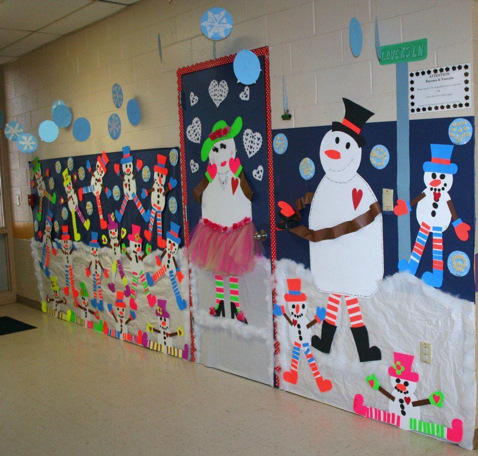 Winter Wonderland Preschool Classroom Decorations : Classroom snowman door hallway decoration