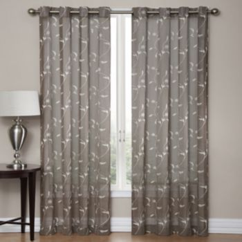 Sonoma Life Style Delany Embroidered Sheer Window Panel Sitting