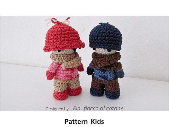 Muster Kinder Miniatur Puppe Amigurumi häkeln von cottonflake   Kids ...