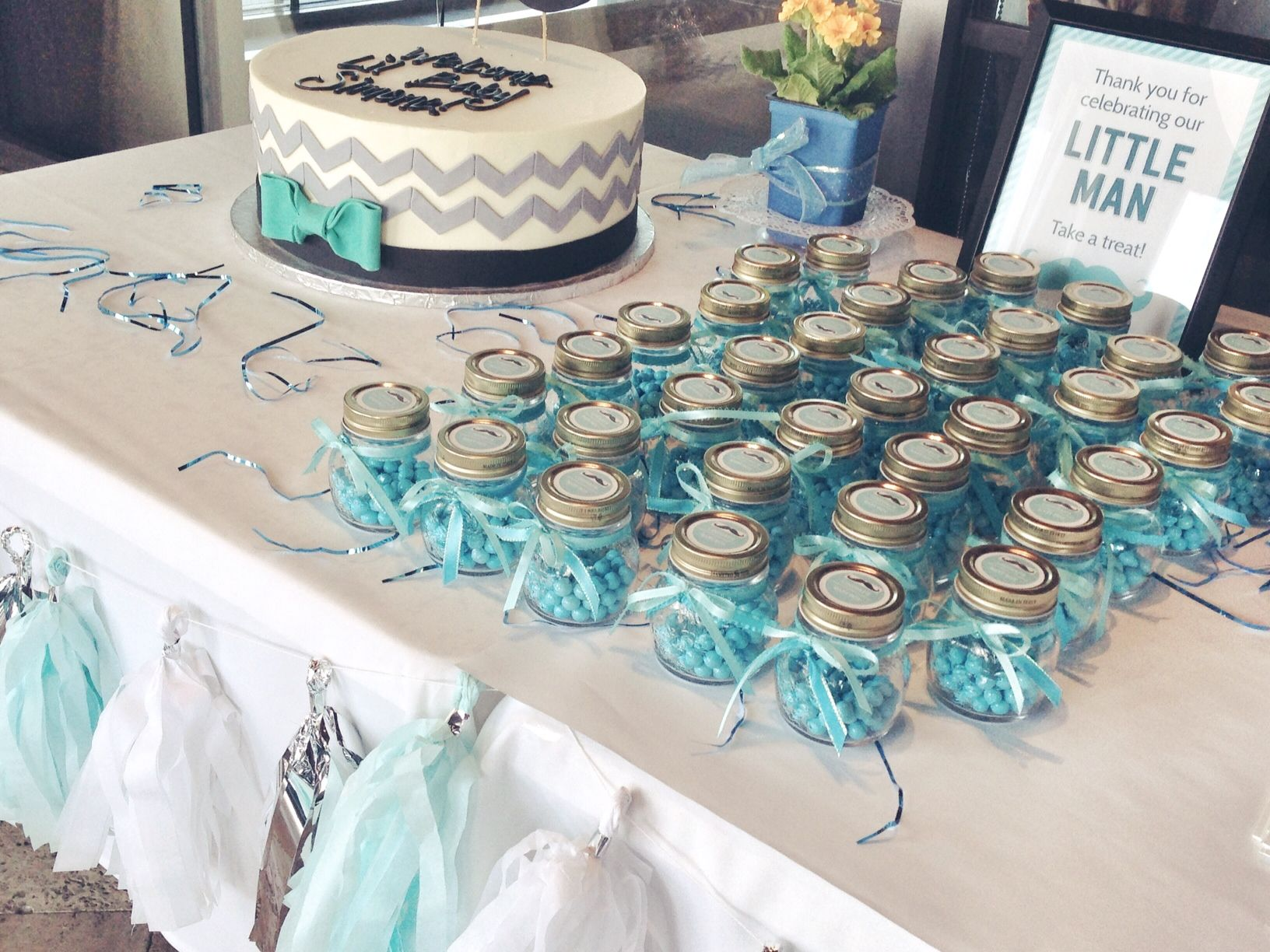 Image Result For Blue And Silver Baby Shower Decorations