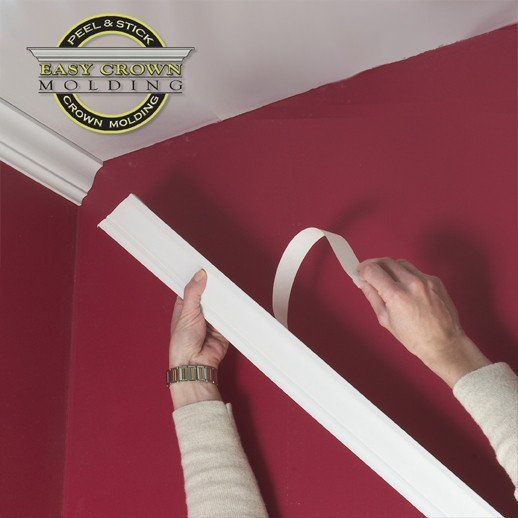 2 5 Easy Crown Molding Custom Room Size With Images Easy Crown Molding Diy Crown Molding Cheap Crown Molding