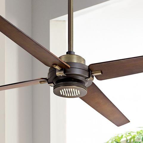 60 Minka Aire Spectre Bronze Brass Led Ceiling Fan 8y270