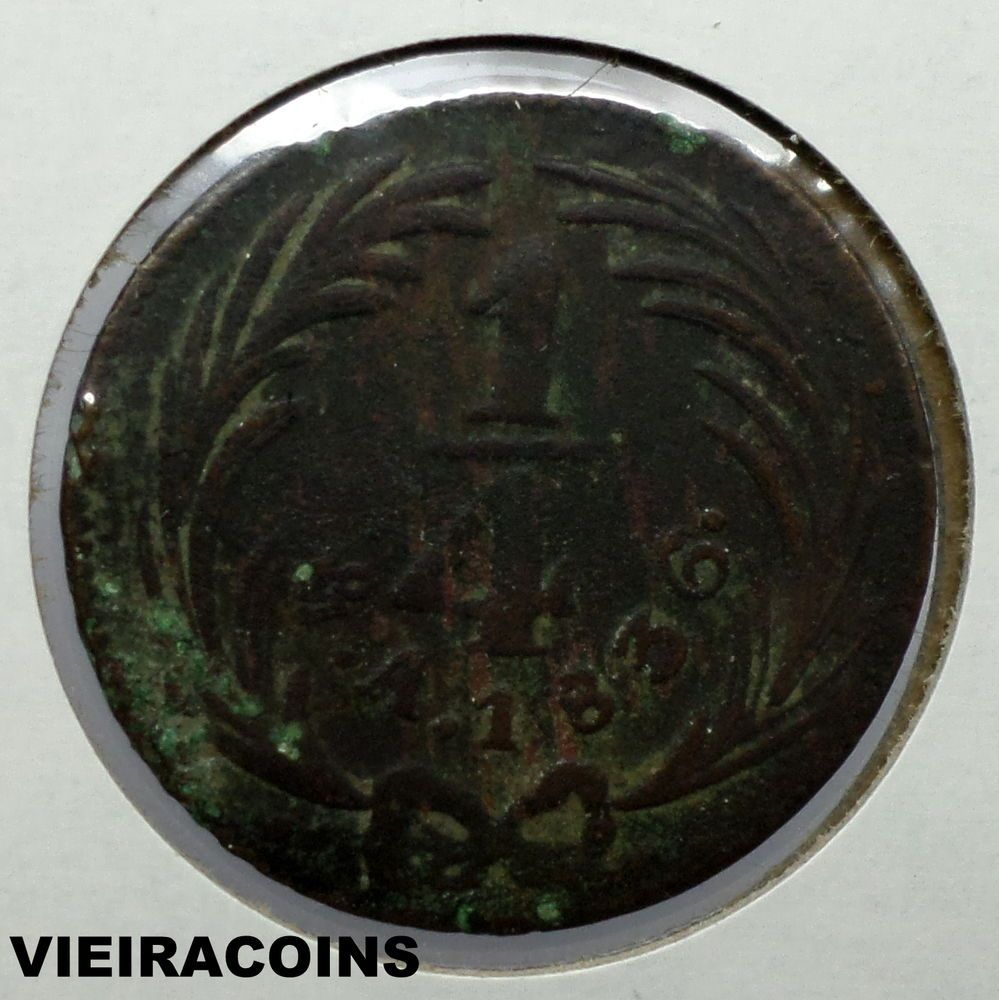 1836  MEXICO  1/4 REAL  -    RARE  -  HARD TO FIND     -  KM# 358   -  #5104