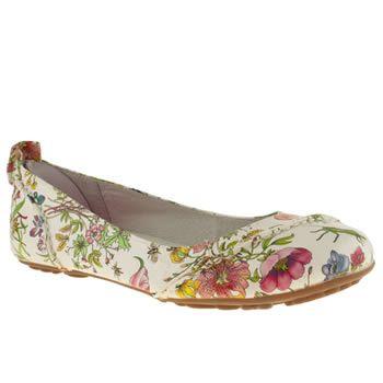 Women S Multi Hush Puppies Janessa Floral Flats Schuh Pretty