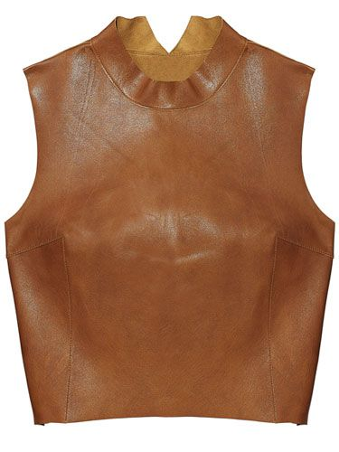 Kahlo Leather Bustier Top      Fall Clothes and Accessories 2012 - New Fall Looks 2012     - Marie Claire