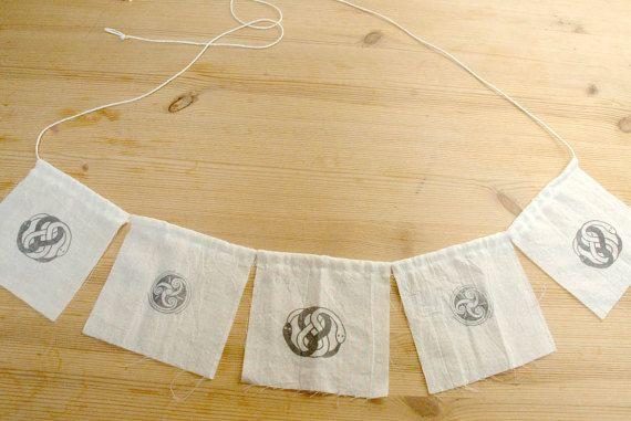 Auryn Infinity Knot Triskel Flag, Neverending Story Flag, Auryn Talisman Flag, Prayer Flag, Childlike Empress Flag, Celtic Flag