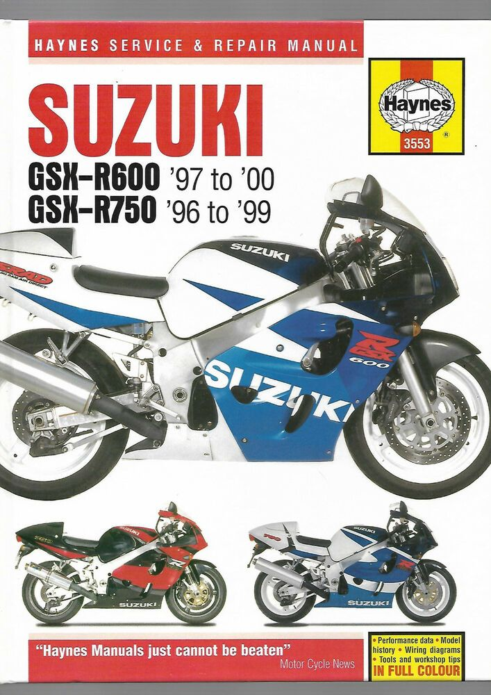 Haynes Suzuki Gsx R600 Gsx R750 Service And Repair Manual 600cc 749cc V W X Y T Suzuki Suzuki Gsx Suzuki Gsx