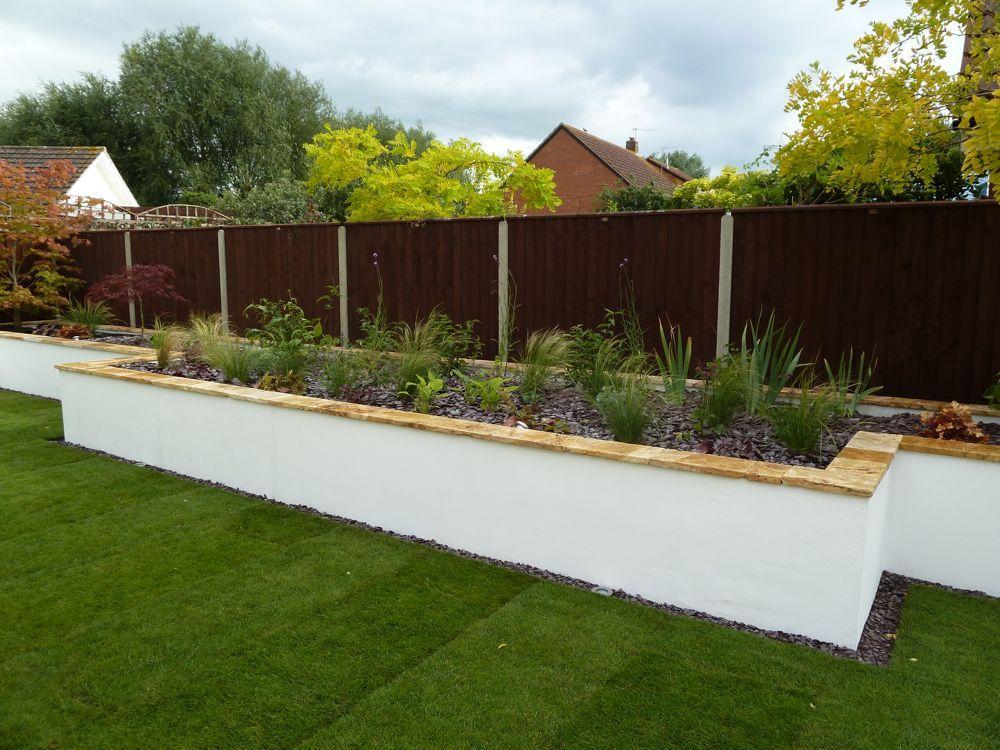 Garden Walls And Retaining Walls Garden Design Cheltenham garden