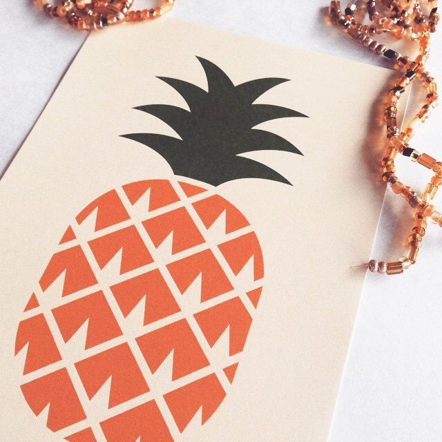 Retro Pineapple Print #homedecor #diy #giftidea #pineapplelover #framedprint #palmbeachprintshop