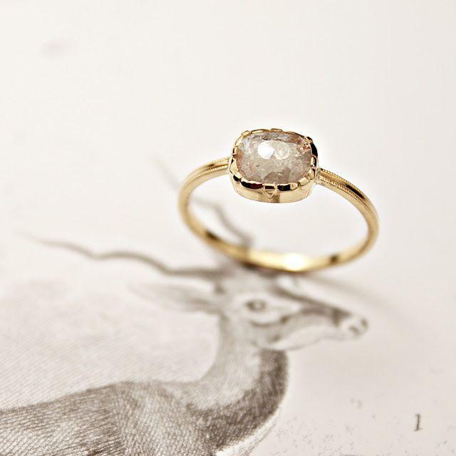 RUST opaque diamond ring