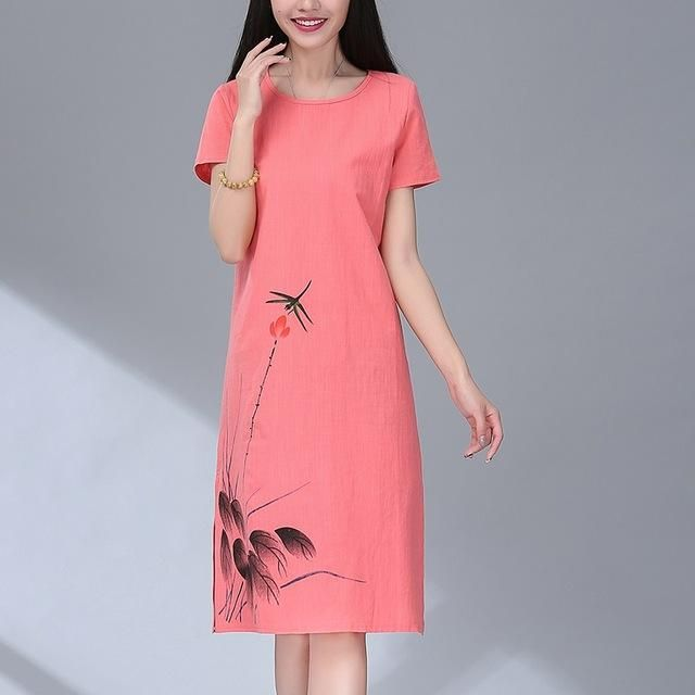 NEW Fashion Women/'s Ladies Girls Dress cotton casual regualr size