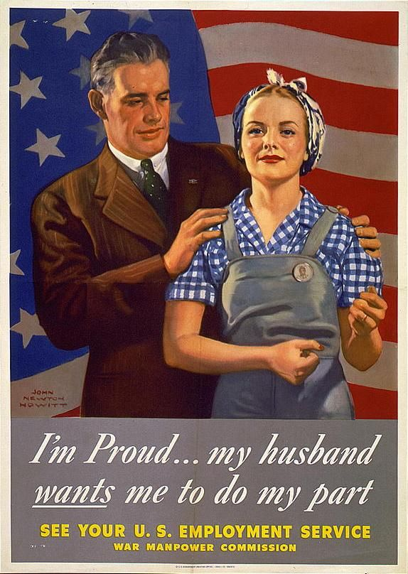 women military ww2 | Patriotic Employment Poster from 1944 World ...