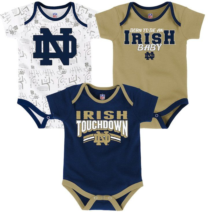 df61376e9 Baby Notre Dame Fighting Irish Playmaker 3-Pack Bodysuit Set | Products