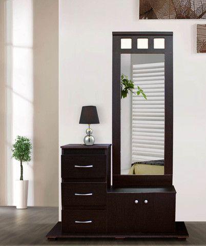 Comoda con espejo antara chocolate minimalista muebles - Comoda con espejo ...