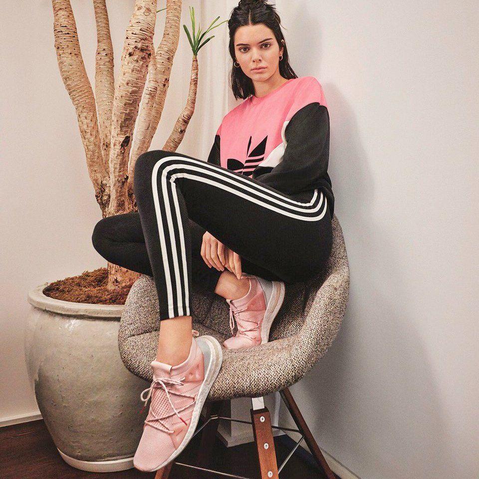 Kendall Jenner wearing Adidas Arkyn