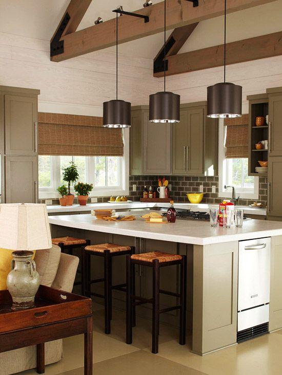 Grey-green cabinets - very nice