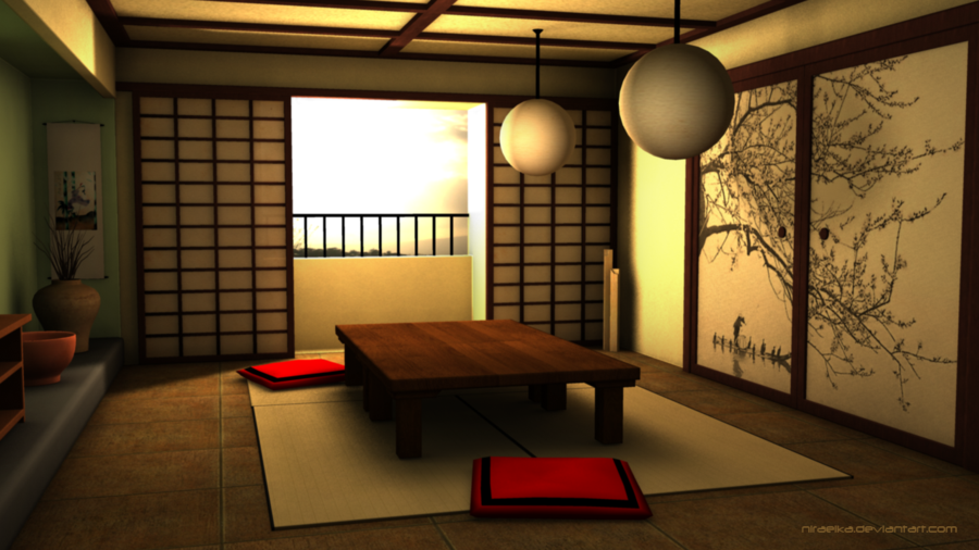 3d Traditional Japanese Room By Niraeika Deviantart Com On