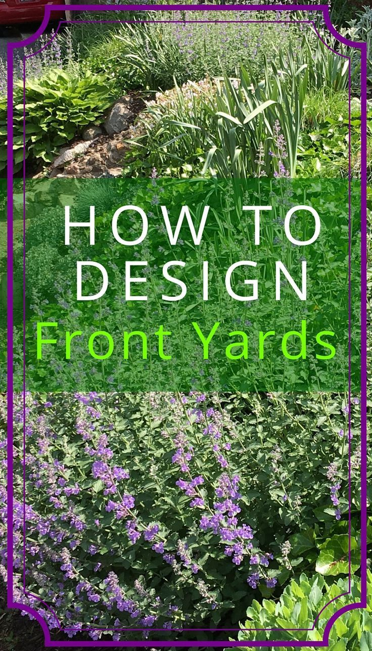Beautiful Front Yard Designs As A Mixture Of Sizes Colors And Textures