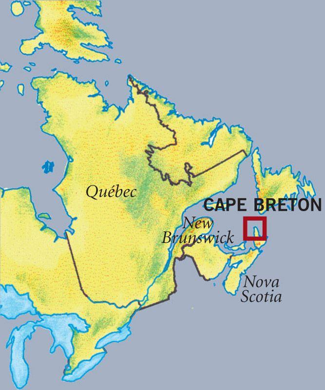 Cape Breton Island Map Canada Nova Scotia's Cape Breton Island   Motorhome magazine article