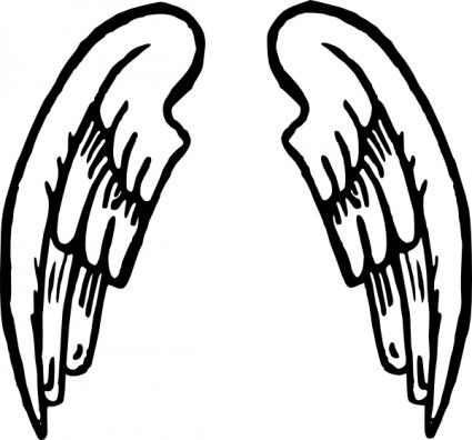 angel wings tattoo clip art free vector in open office drawing svg rh pinterest com au clipart wings png clipart windshield wipers