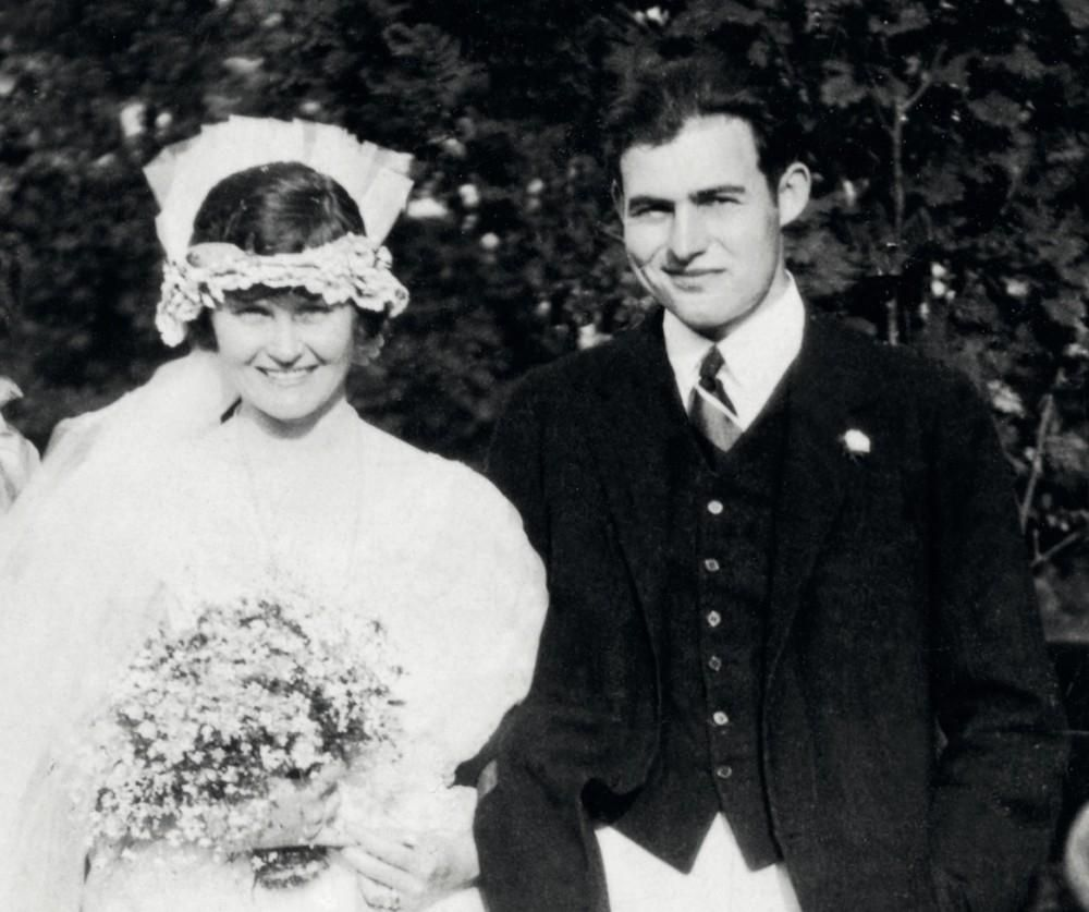 Ernest with first wife Hadley Richardson | Bride and Groom | Pinterest