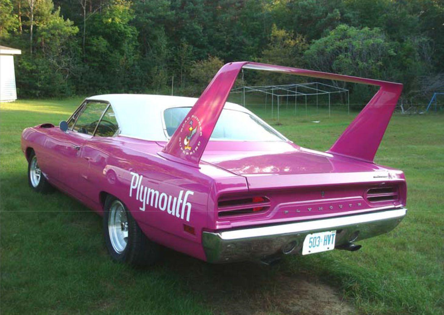 Pink Plymouth Superbird Plymouth Superbird Dodge Muscle Cars Superbird