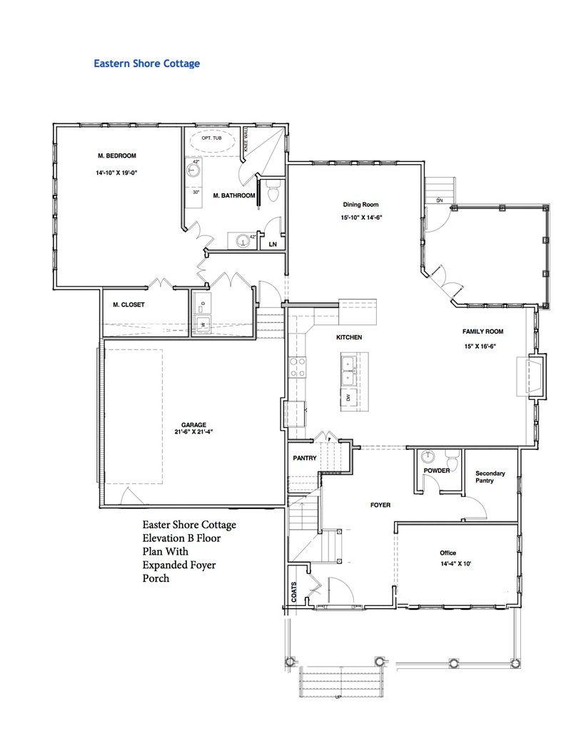 First Floor Elevation B C Cottage House Plans Floor Plans Cottage Homes