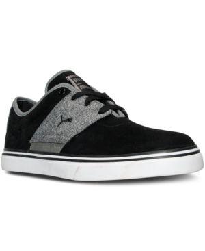 Puma Men's El Ace Nubuck Denim Casual Sneakers from Finish Line - Black 9.5