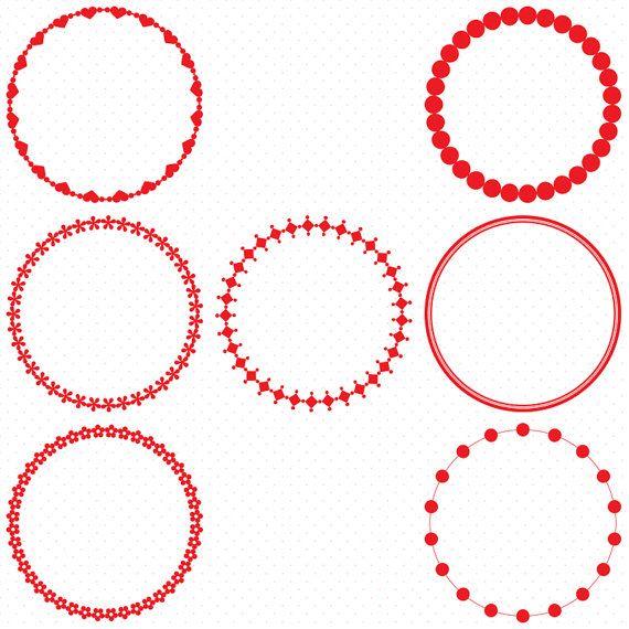25 Red Circle Frames Circle Frame Clip Art Round Frame Clip Art Digital Clipart Circle Frames Frames Clipart Circle Circle Frames Frame Clipart Clip Art