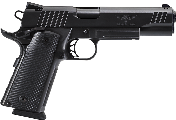 PARA: Black Ops 14.45... I'm not a huge 1911 fan, and wouldn't typically consider a 45 but this is a good package, double stacked mag means 14+1 round capacity.