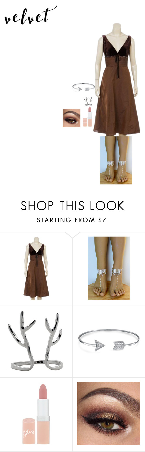 """Hidden Trails in The Forest"" by fencingsword ❤ liked on Polyvore featuring Velvet, Bling Jewelry and Rimmel"