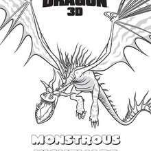 Monstrous Nightmare Coloring Page Coloring Page Movie Coloring