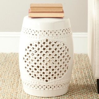 Shop for Safavieh Paradise Gardens Cream Ceramic Garden Stool. Get free shipping at Overstock.com - Your Online Garden