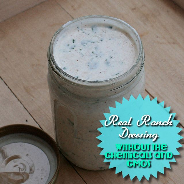 Smart Health Talk Recipe Pick: Real Ranch Dressing. Read the ingredient label on ranch salad dressing lately? Included are chemicals to get our brains going called excitogens. Give us a high that makes us love what we're eating even more. GMOs in form of oil, starch, sugar, preservatives. If dairy antibiotics included. Save dollars by making your own. Try starting with organic buttermilk or organic plain Greek yogurt.  Most important fresh and not designed to store for years on a store…