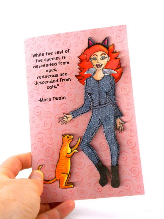 Little Rehead Books Is Now Offering Another Variety Of Redhead Birthday Card This One Combines