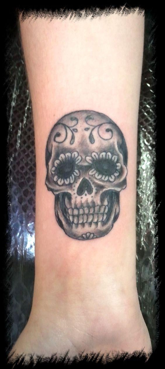 Sugar Skull Tattos Sugar Skull Wrist By Bmxninja Tattoos