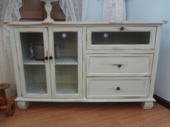 shabby chic entertainment center by thepinktoolbox on etsy for you by me pinterest. Black Bedroom Furniture Sets. Home Design Ideas