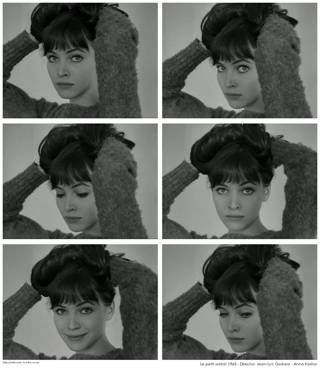 "retroadv: "" Le petit soldat 1963 Director: Jean-Luc Godard Anna Karina """