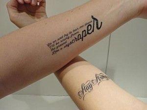 """Stay Strong"" and Skyscraper tattoos    http://www.popstartats.com/demi-lovato-tattoos"