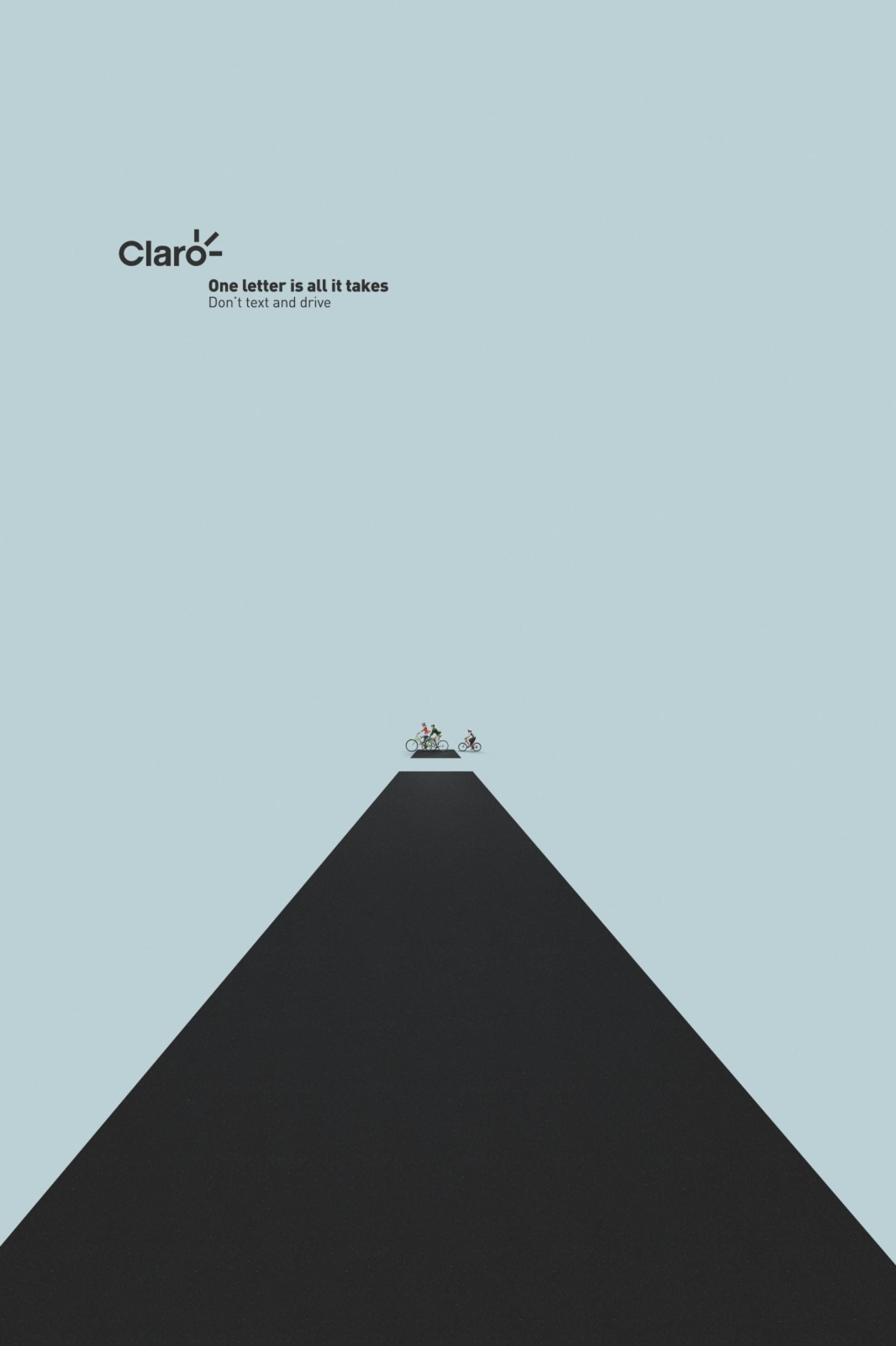Claro I Print Ad What the letter