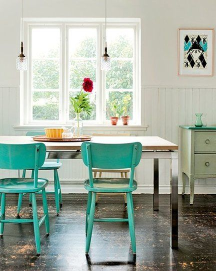 colored kitchen chairs