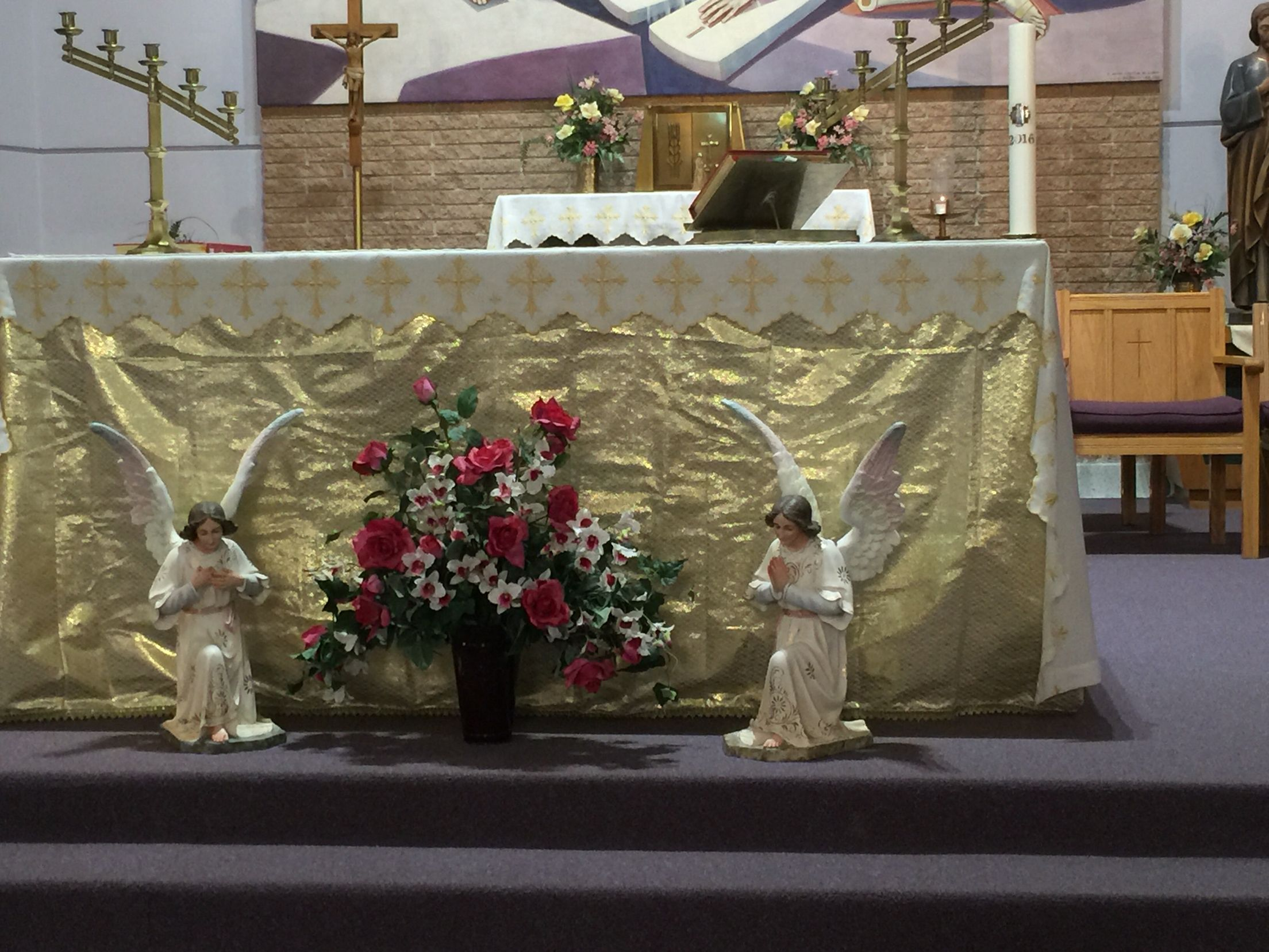 Mother Mary Mother S Day Altar Table Decorations Decor